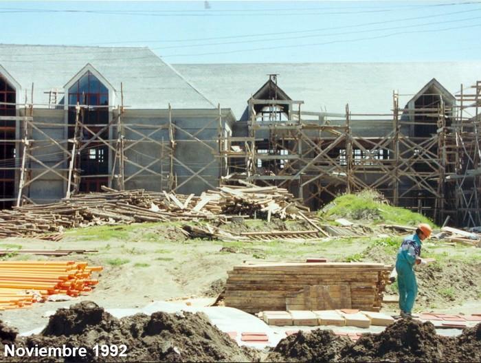 Construcción del CEAT - vista desde el patio